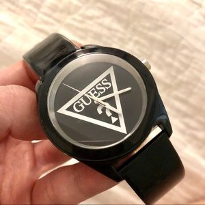 GUESS glossy watch